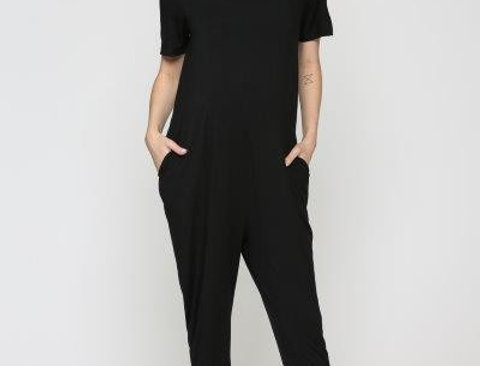 Key Hole Maternity Jumpsuit with Side Pocket