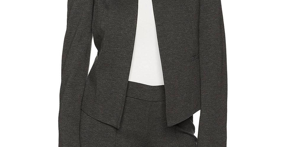 Kasper Petite Size Ponte Collarless Flyaway Jacket