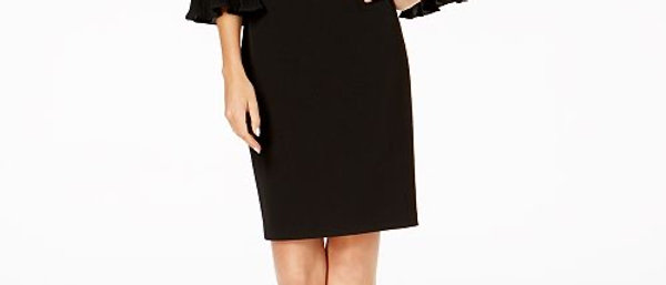 Calvin Klein Bell Sleeve Midi Dress