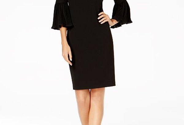 Calvin Klein Bell Sleeve Midi Dress
