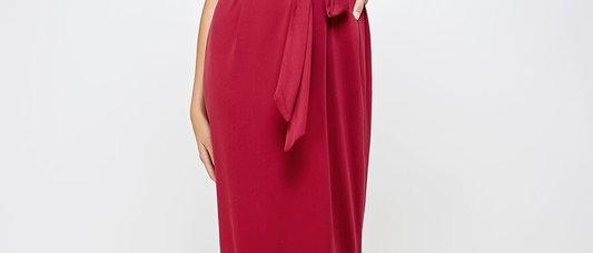 Shoulder Padded Maxi Dress