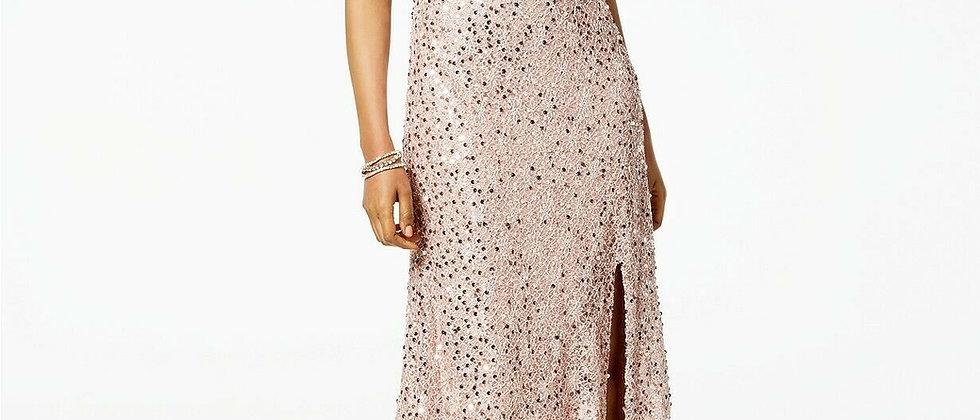 Nightway Rose Gold Sequin Dress