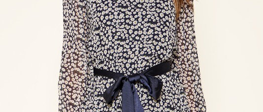 Doheny Floral High Neck Dress