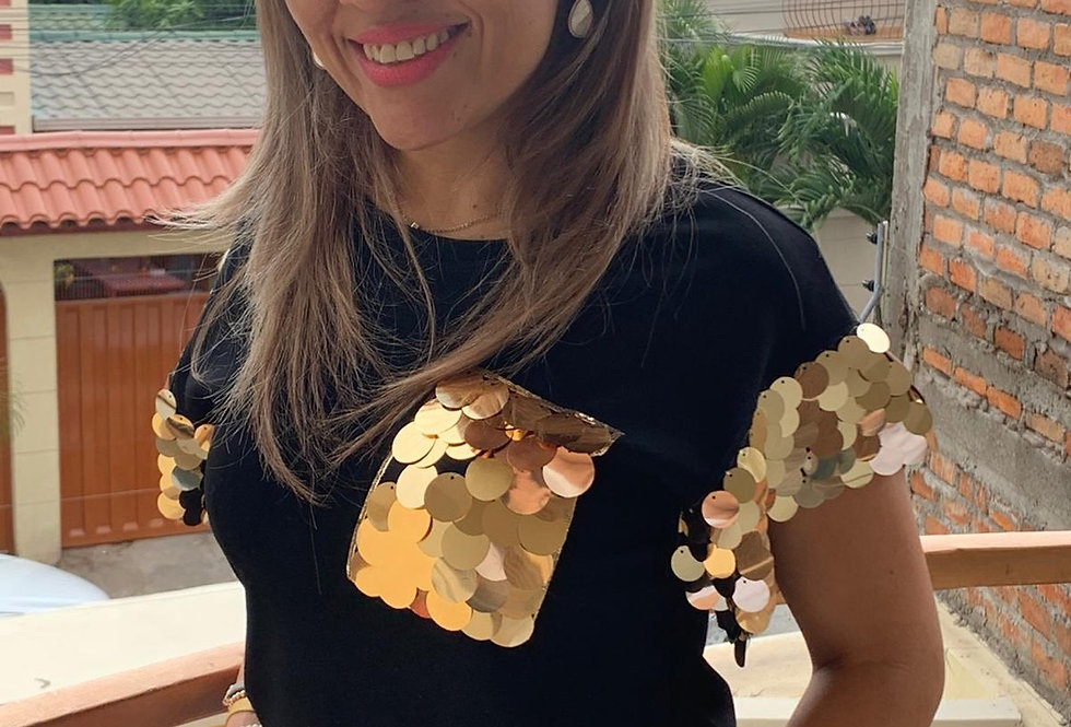 Gold Sequin T-Shirt