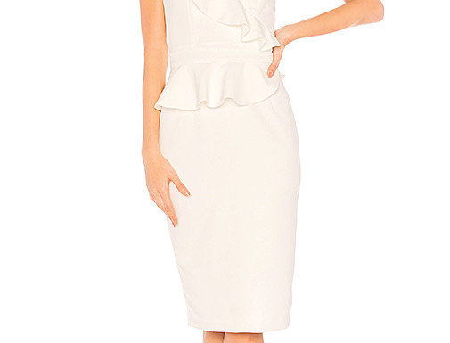Bardot One Shoulder Midi Dress