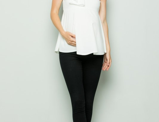 High Neck Sleeveless Maternity Top