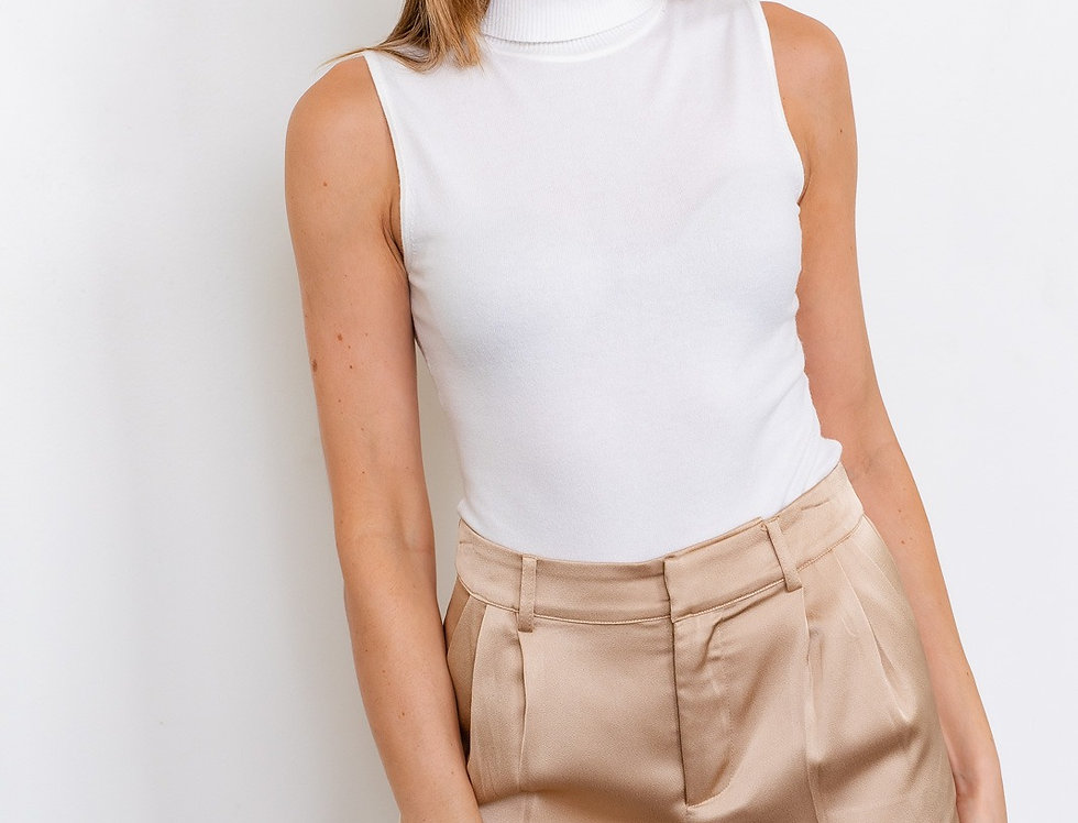 Sleeveless Turtleneck Bodysuit