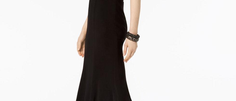 Xscape Womens Black Halter Formal Sleeveless Evening Dress