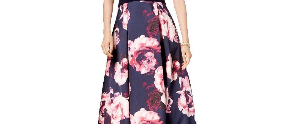 Xscape Women's Dress Floral Blue
