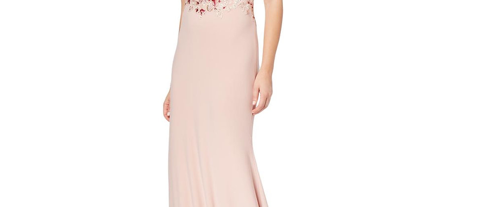 Xscape Womens Embroidered Embellished Dress