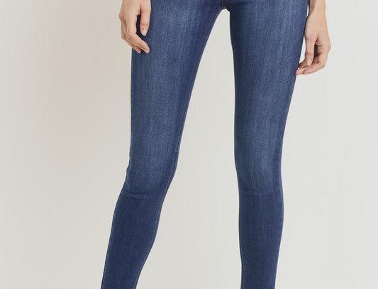 Scissor cut Skinny Dark Denim Jeans