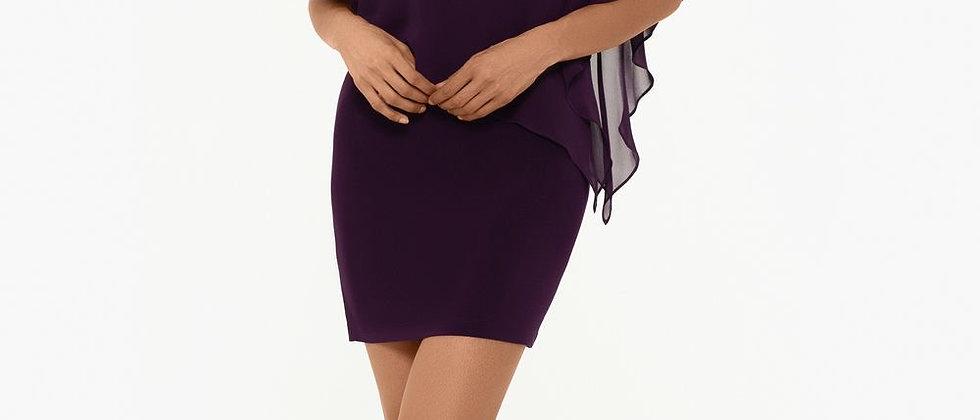 XSCAPE Capelet Sheath Dress