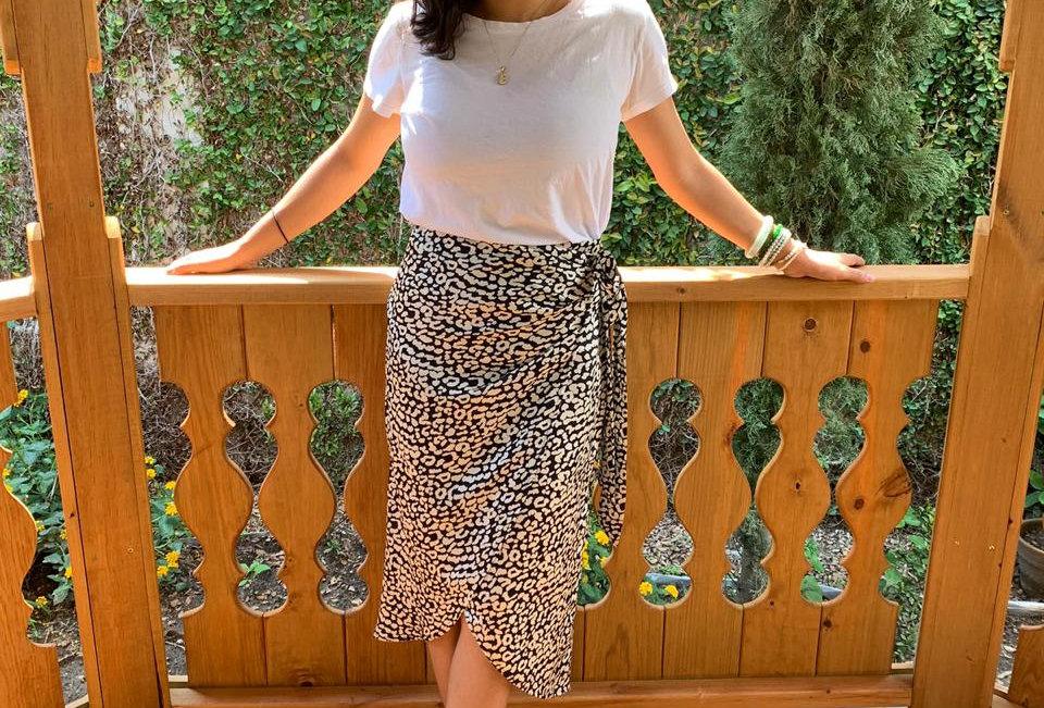 Leopard Woven Skirt