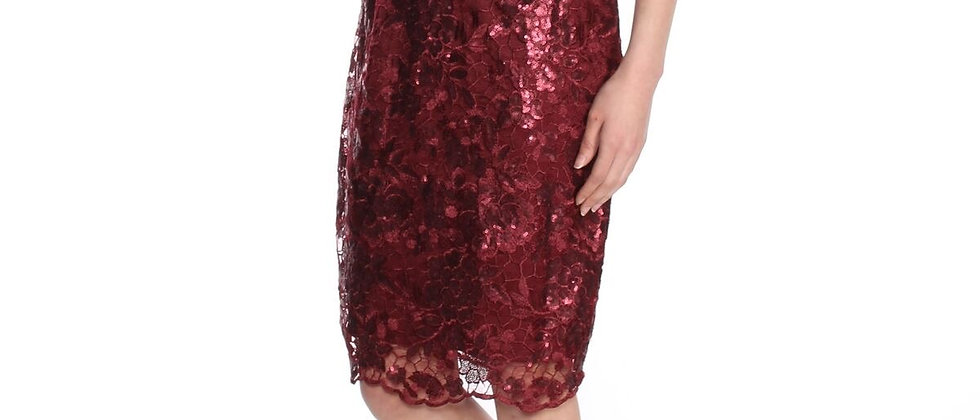 Adrianna Papell Sequin Midi Dress