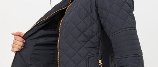 Quilted Padded Zip Up Jacket