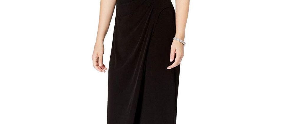 Connected Ivory Black Sleeveless Dress