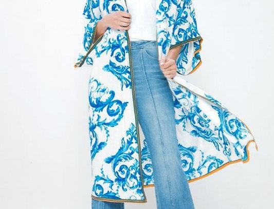 Printed Coverup Kimono