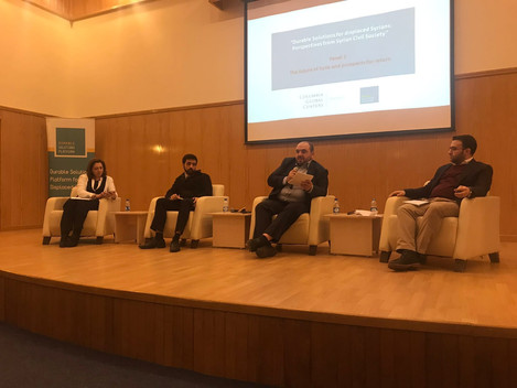 """SLDP participates in """"Durable Solutions for displaced Syrians: Perspectives from Civil Society"""" conf"""
