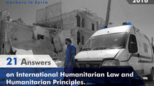 SLDP launches FAQ handbook on IHL, in English and Arabic, for humanitarian workers
