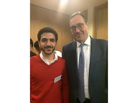 دعوة البرنامج السوري للتطوير القانوني للقاء وزير اللاجئين السوريين ريتشارد هارينجتون