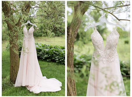 The Willow Tree wedding in Tipp City, Ohio Blush, gold and gray