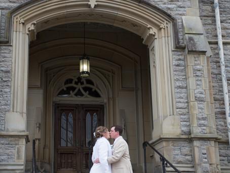 Emily and Scott's romantic micro-wedding in Cincinnati, Ohio