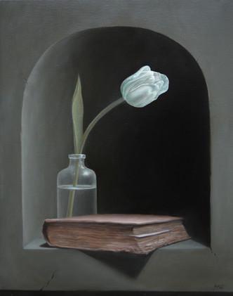White Tulip Still Life_1