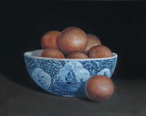 Oranges In Delft Bowl_1
