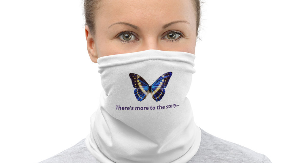 There's More to The Story Blue Butterfly Neck Gaiter