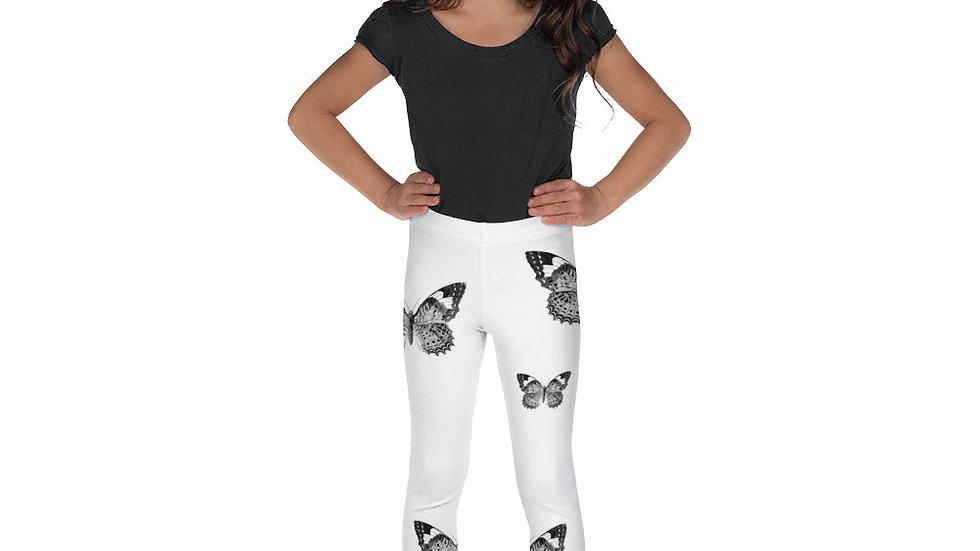 Black and White Butterfly Kid's Leggings