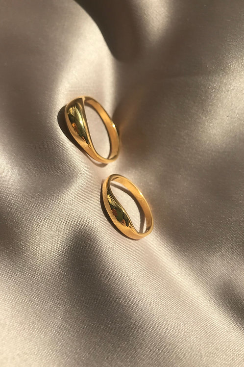 Set de anillos Suculentas oro