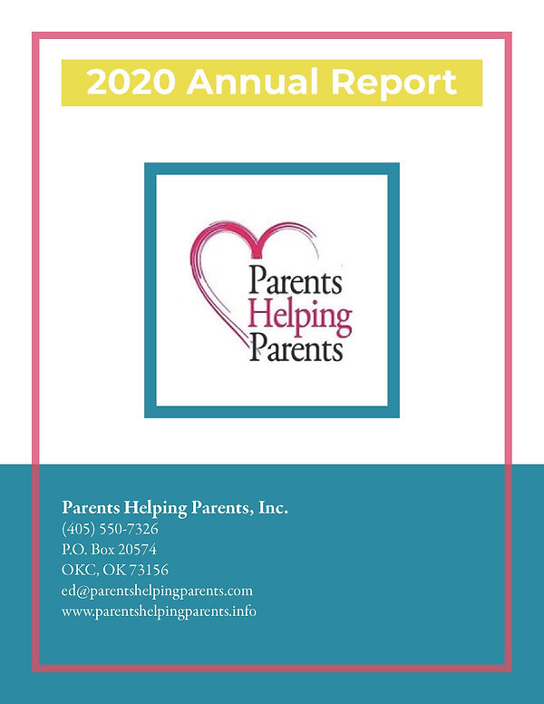 Parents Helping Parents 2020 Annual Repo