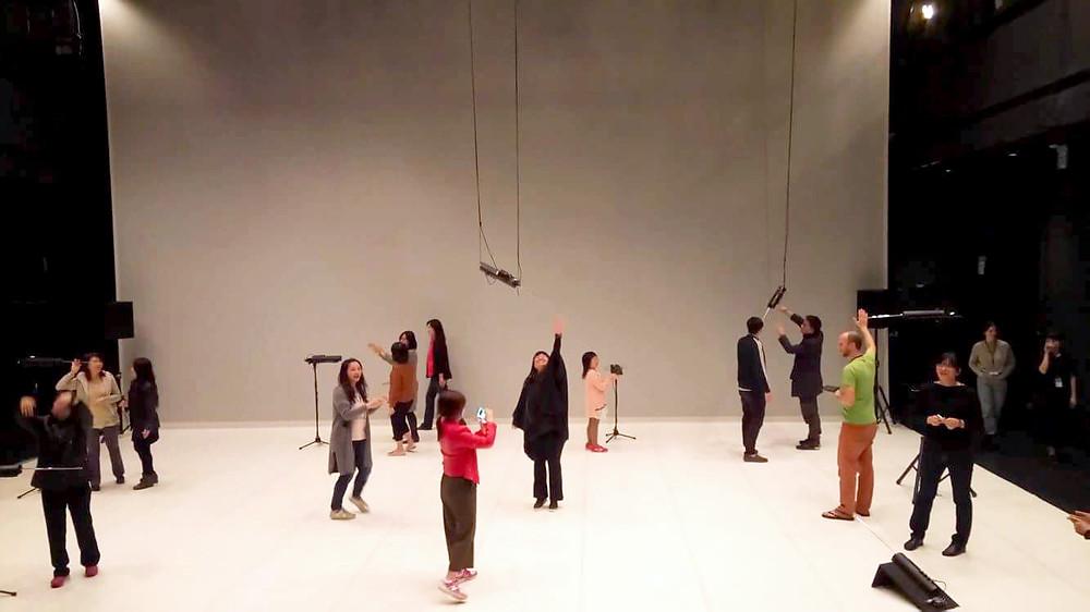 Theremin舞台佈放 (攝於會後舞台導覽)