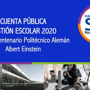Cuenta Pública Periodo Escolar 2020