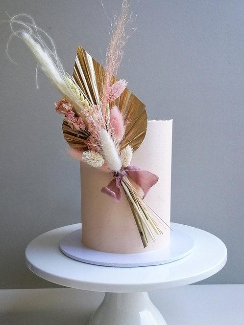 Dried Flower Posy Celebration Cake