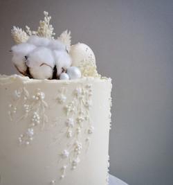 Textured Buttercream Wedding Cake Sussex
