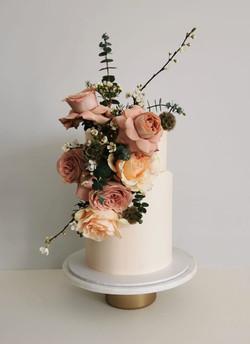 Modern Floral Wedding Cake Sussex