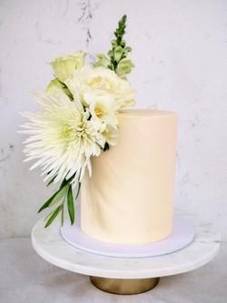 Floral White Wedding Cake Sussex