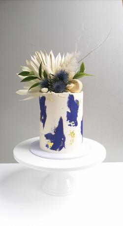 Watercolour celebration cake