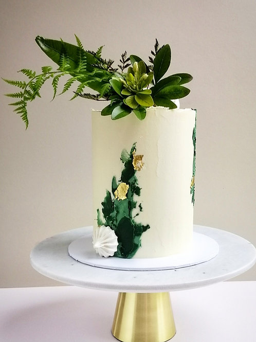 Green and Gold Celebration Cake