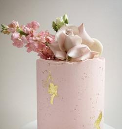 Floral pink celebration cake
