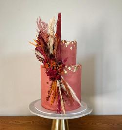 Autumn Dried Flower Wedding Cake