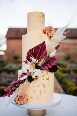 Dried Flower Wedding Cake Sussex