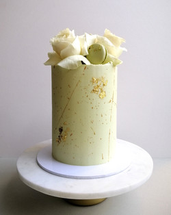 Sage Green Floral Cake