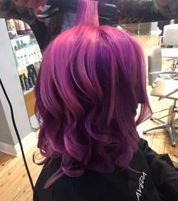 vibrant colour, fashion colour, purple hair, pink hair