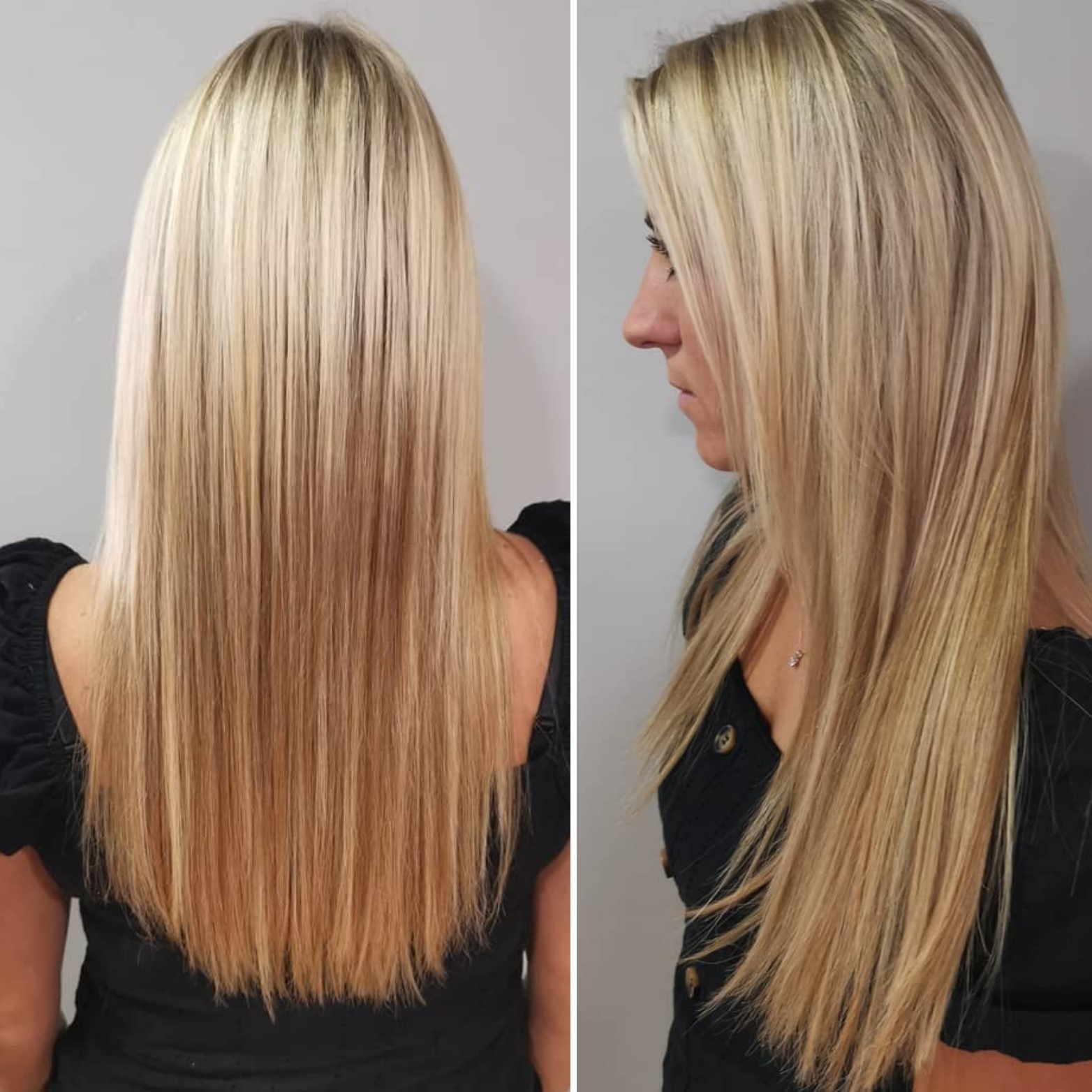 full head nano bead extensions by ellie