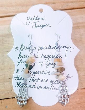 Yellow Jasper & Hansa Earrings