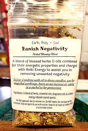 Banish Negative Herbal Blessing Blend