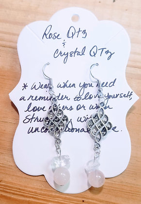 Rose Quartz & Crystal Quartz