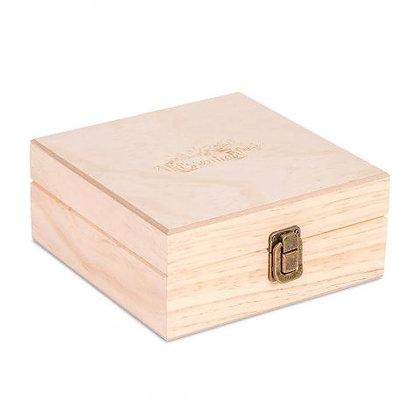 25 Count Essential Oil Logo Wooden Essential Oil Organizer Storage Box (5-15 ml